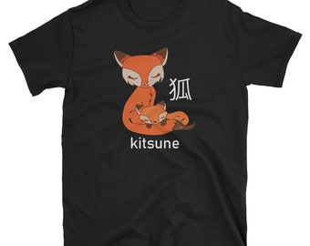 Japanese Kawaii Fox Kitsune T Shirt