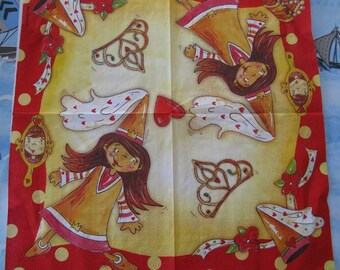 set of 2 fairy paper napkins