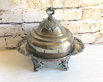 Antique Forbes Silver Co. Art Nouveau Serving Dish with Lid Elegant Formal Dining