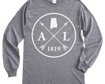Homeland Tees Alabama Arrow Long Sleeve Shirt