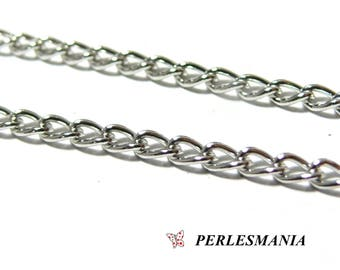 Special offer 2 meters PCHS003Y silver link chain