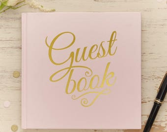 Pastel Perfection Guest Books in Pink, Silver or Gold and Ivory