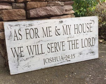 As for me and my House Rustic Painted sign