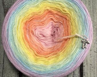 Pastel Prism Gradient Yarn Cake