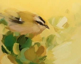 Goldcrest in Pale Gold by Heidi Langrdge