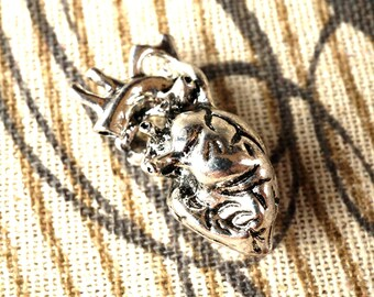 Anatomical heart charm vintage style jewellery supplies C115