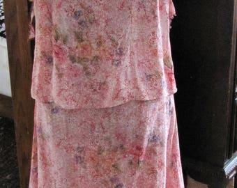 2 piece Skirt and top Dress by Na-Ta-Ya - Size Medium