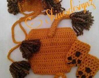 Crochet lion set