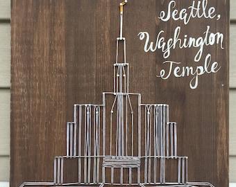 Seattle, Washington Temple String Art | Home Decor | Wedding Gift | Anniversary Gift