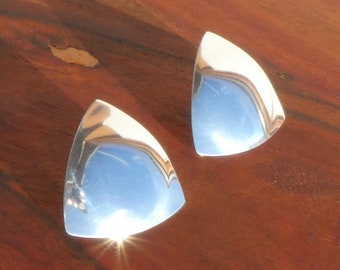 Ed Levin Sterling Silver Modernist Earrings