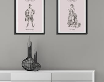Set of Prints, Wall Art Prints, Print Set, Minimalist Print, Wall Art, Minimalist Wall Art, Vintage Style, Prints, Traditional Print, Poster