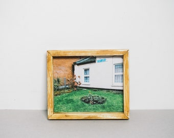 Handmade wooden frame and print