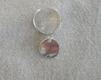 """Large silver pendant """"Medal"""" ring"""