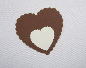 Trailer Brown gift tags heart gift tag wedding table card Red