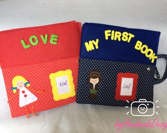 Busy Book/Quiet Book/educational activity/preschool/activity book/Montessori/Felt book/Personalized gift /Learning/Sensory Toys/Sensory book