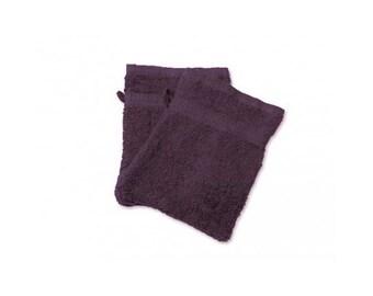 Cotton washcloth sponge purple plum