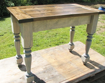 Kitchen Island, Farmhouse, Country, Turned Legs, Rustic