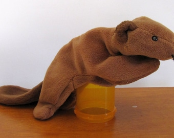 Beaver Beanie Puppet by The Puppet Patch