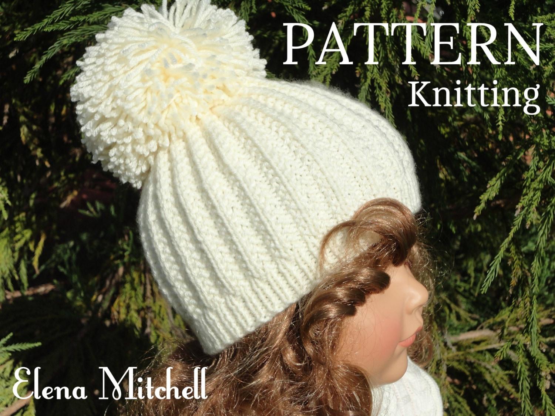 Knitting PATTERN Girls Beanie Women Hat Accessories Children