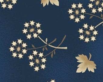 Sara Morgan for Blue Hill Fabrics, Old Glory 2, Dandelion Stars in Navy Blue 7629.1 - 1 Yard Clearance