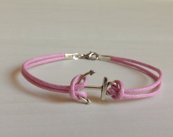 Pink Anchor Bracelet {40% of Sales to Benefit Breast Cancer Research}
