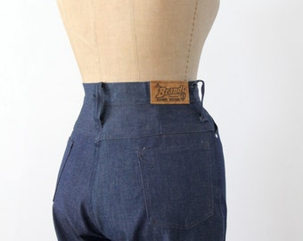 1970s high waist jeans by Stephen's Western, waist 27, flare leg denim