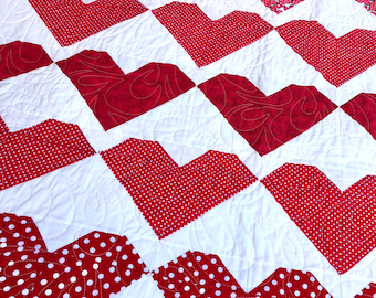 "Heart to Heart quilt 62"" x 76"""