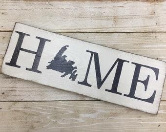 Newfoundland Home // Newfoundland silhouette // province sign