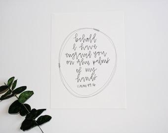 ISAIAH 49:16 PRINT