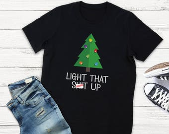 Funny Christmas Shirt Ideas for Men or Women - Unisex or Junior Fit Holiday T Shirt - Offensive Ugly Xmas Clothing - Mature Humor