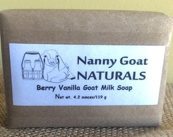Berry Vanilla Goat Milk Soap