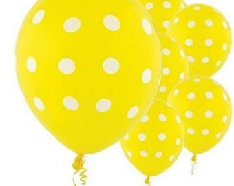 Yellow Polka Dot Balloons