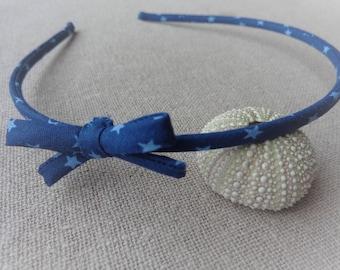Headband Ribbon headband Navy Blue Star fabric headband bow headband headband thin headband star