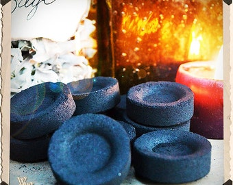 10 Pack Self Lighting Charcoal Disks for Incense, resin, essential oil, powers, herbs. Meditation, spiritual, witch, shaman, spell tools