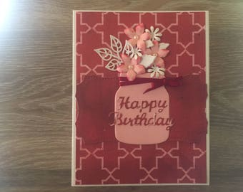 Mason Jar Birthday Card