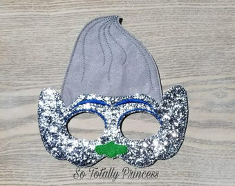 Diamond troll inspired mask/Birthday mask/Halloween mask/Costume mask/Pretend play mask