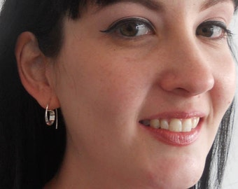 Hoop earrings with a difference, handmade