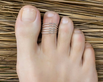 Toe ring sterling silver