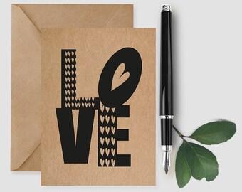 Valentines Card, Valentine's Day Card, Valentine Card Him, Valentine Card Her, All I Want is You Card, Love Card, Wedding Card, Anniversary