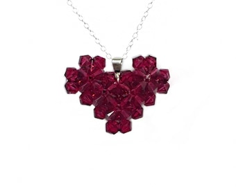 Sweetheart Necklace made with Swarovski