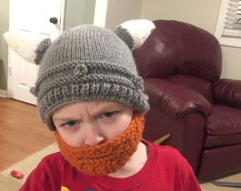 Knit viking hat etsy knit pattern viking helmet hat with beard dt1010fo