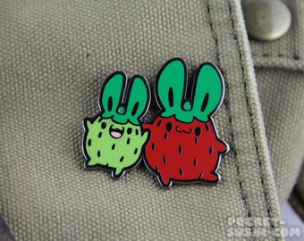 "Strawberry Bunny ""Strawbunny"" Hard Enamel Pin"