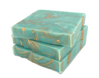 Turquoise Mini Soap - Blue Soap, Mini Guest Soaps, Soap Sample