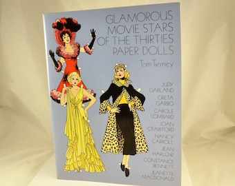 Glamorous Movie Stars of the Thirties Paper Doll Book- Tom Tierney 1978 - Excellent