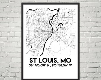 Map Poster of St Louis, Mo (Downloadable)
