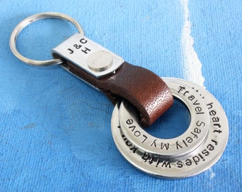 Personalized Mens Keychain,Father's Day Gift,New Dad Keychain,Personalized Dad Gift for Fathers Day,Gift for dad,Personalized Mens keychain