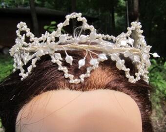 1930's-1940's Antique/Vintage Art Deco Bridal Pearl Headpiece