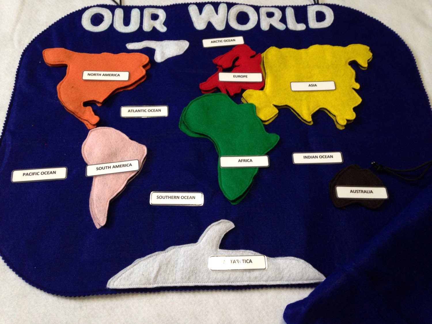 Our world felt continents map puzzle continents board ampliar gumiabroncs Images