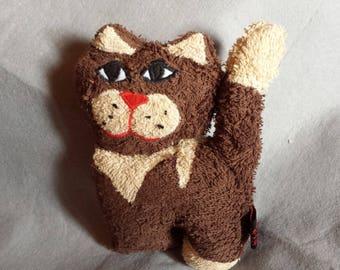 "cuddly kitten ""Tina"" fabric towel 20 x 15 cm"