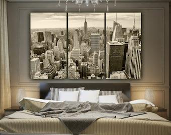 New York Skyline SEPIA Tone Canvas  Art, Empire State, New York Art, New York City, New York Canvas, New York Poster, New York Photo